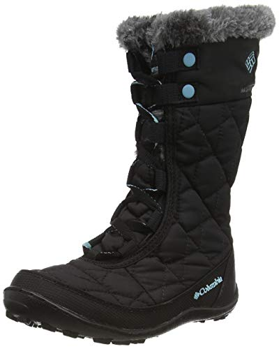 Columbia Unisex-Kinder Youth Minx Mid Ii Waterproof Omni-Heat, Black/Iceberg, 4, BY1313