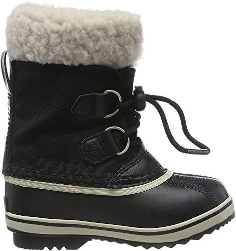 Sorel YOOT PAC NYLON, Unisex-Kinder Warm gefütterte Schneestiefel, Schwarz (Black 010), 38 EU