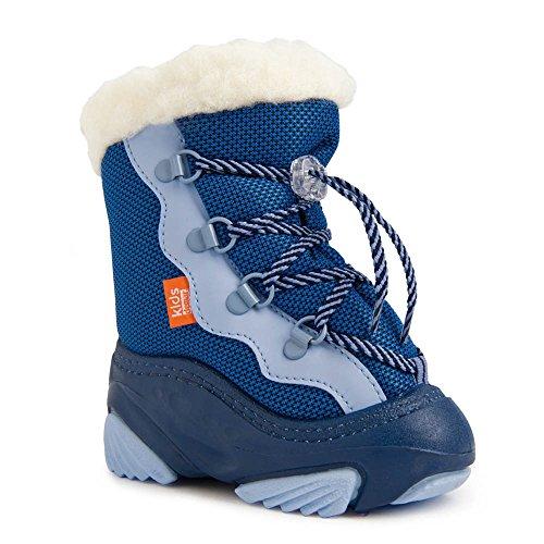 DEMAR Kinder Winterstiefel mit WOLLE gefüttert SNOWMAR (26/27, blau)