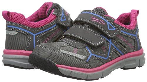 Superfit LUMIS 700411, Mädchen Sneakers, Grau (STONE KOMBI 06), 32 EU -