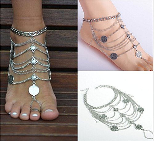 Orientalische Fußkette Retro in Silberoptik - 3