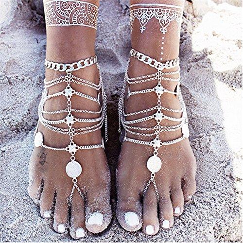 Orientalische Fußkette Retro in Silberoptik - 4