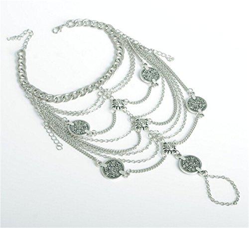 Orientalische Fußkette Retro in Silberoptik - 5
