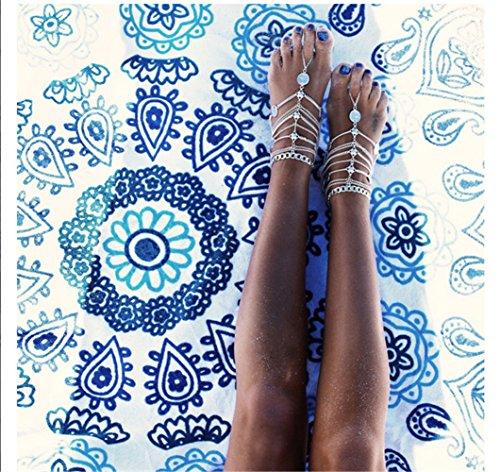 Orientalische Fußkette Retro in Silberoptik - 6