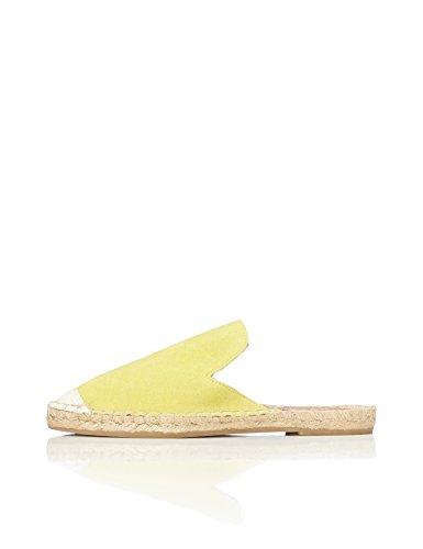 find Damen Espadrille Pantoffeln, Gelb (Yellow), 36 EU