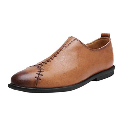 Yiiquan Herren Sutures Low-Top Schuhe Braun