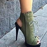 WETVC Damen Schuhe Wildleder Frühling Sommer Stiefeletten Komfort Neuheit Modische Stiefel Stiefel Stöckelabsatz Peep Toe Booties / Stiefeletten , us6 / eu36 / uk4 / cn36 - 2