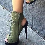 WETVC Damen Schuhe Wildleder Frühling Sommer Stiefeletten Komfort Neuheit Modische Stiefel Stiefel Stöckelabsatz Peep Toe Booties / Stiefeletten , us6 / eu36 / uk4 / cn36 - 3