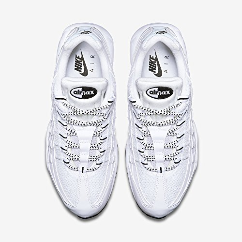Nike Air Max '95, Herren Sneakers, Elfenbein (White/black/black), 44 EU - 4