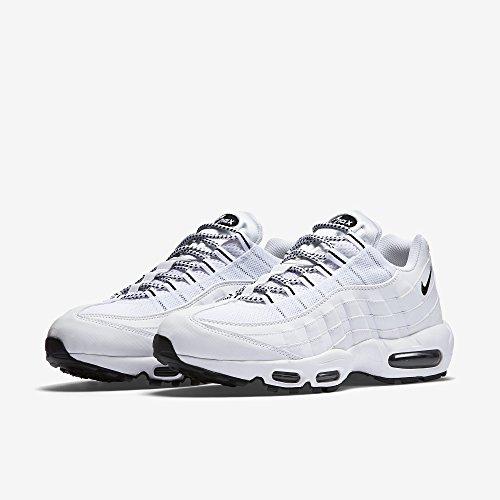 Nike Air Max '95, Herren Sneakers, Elfenbein (White/black/black), 44 EU - 5