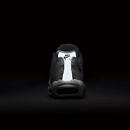 Nike Air Max '95, Herren Sneakers, Elfenbein (White/black/black), 44 EU - 7
