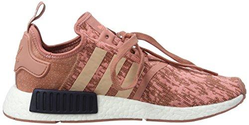 adidas Damen NMD_r1 W Sneakers, Braun (Raw Pink F15/Trace Pink F17/Legend Ink F17), 38 2/3 EU - 6