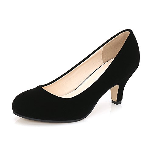 Damen Pumps mit Kitten Heel