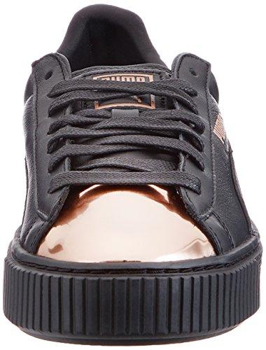 Puma Sneaker Schwarz Metallic Basket Platform - 4