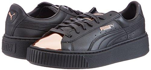 Puma Sneaker Schwarz Metallic Basket Platform - 5
