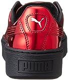 Puma Damen Schuhe / Sneaker Basket Platform Metallic, Rot, 38.5 EU - 2