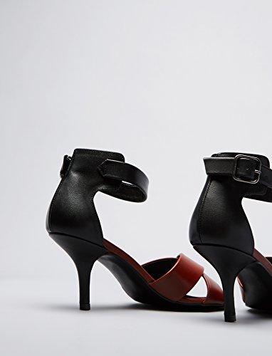 FIND Damen Sandalen mit Pfennigabsatz Mehrfarbig - 4