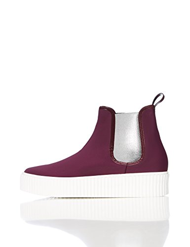 FIND Damen Plateau Sneaker, Bordeaux
