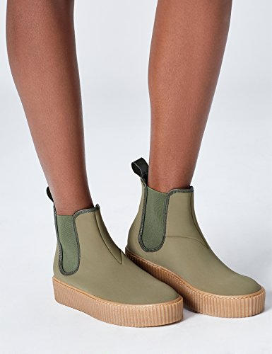 FIND Damen Plateau Sneaker, Grün (Khaki), 39 EU - 3