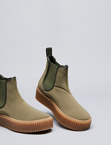 FIND Damen Plateau Sneaker, Grün (Khaki), 39 EU - 4