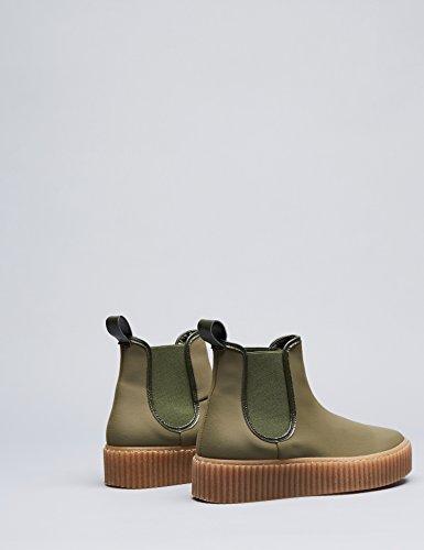 FIND Damen Plateau Sneaker, Grün (Khaki), 39 EU - 5