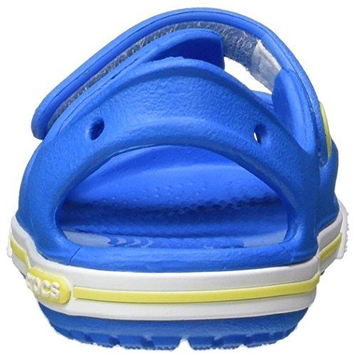crocs Crocband II Sandal Kids, Unisex - Kinder Sandalen, Blau (Ocean/Tennis Ball Green), 27-28 EU - 2