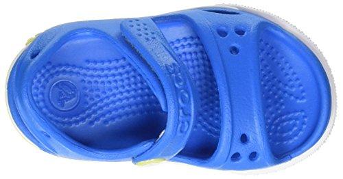 crocs Crocband II Sandal Kids, Unisex - Kinder Sandalen, Blau (Ocean/Tennis Ball Green), 27-28 EU - 7