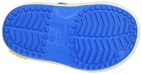 crocs Crocband II Sandal Kids, Unisex - Kinder Sandalen, Blau (Ocean/Tennis Ball Green), 27-28 EU - 3