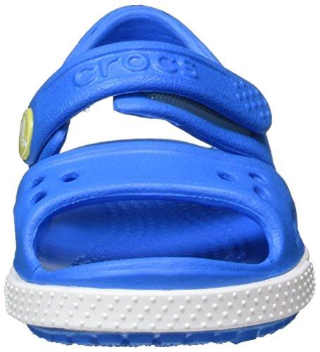crocs Crocband II Sandal Kids, Unisex - Kinder Sandalen, Blau (Ocean/Tennis Ball Green), 27-28 EU - 4