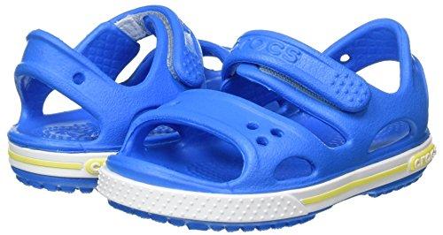 crocs Crocband II Sandal Kids, Unisex - Kinder Sandalen, Blau (Ocean/Tennis Ball Green), 27-28 EU - 5
