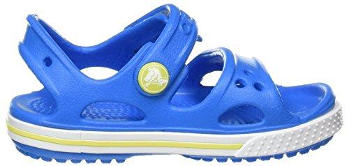 crocs Crocband II Sandal Kids, Unisex - Kinder Sandalen, Blau (Ocean/Tennis Ball Green), 27-28 EU - 6