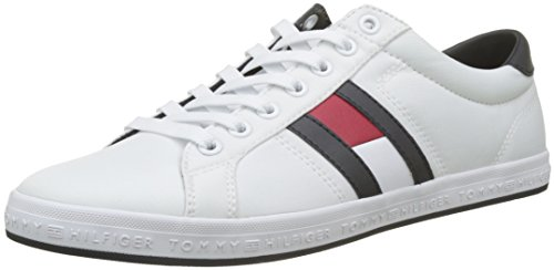 Tommy Hilfiger Essential Flag Detail Sneaker, Weiß