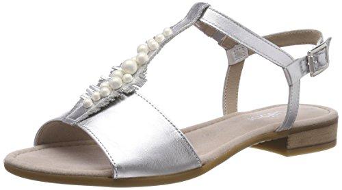 Gabor Shoes Damen Comfort Sandalen, Silber