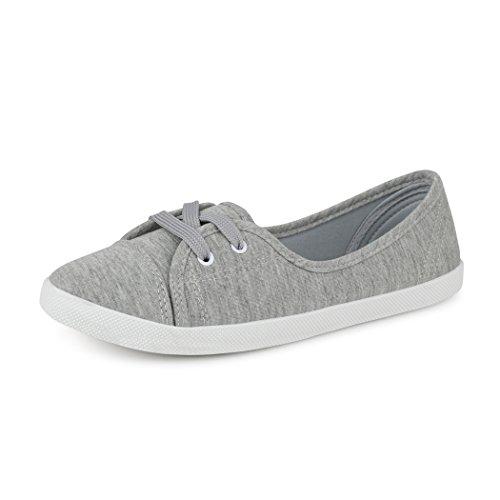best-boots Damen Ballerinas Sneaker, Grau