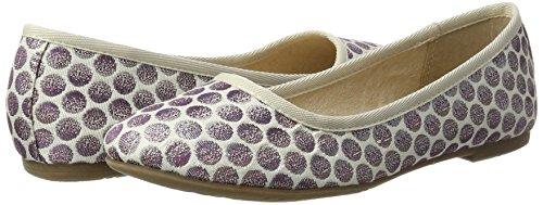 Tamaris Damen 22151 Geschlossene Ballerinas, Violett (Lavender Dots), 38 EU - 2