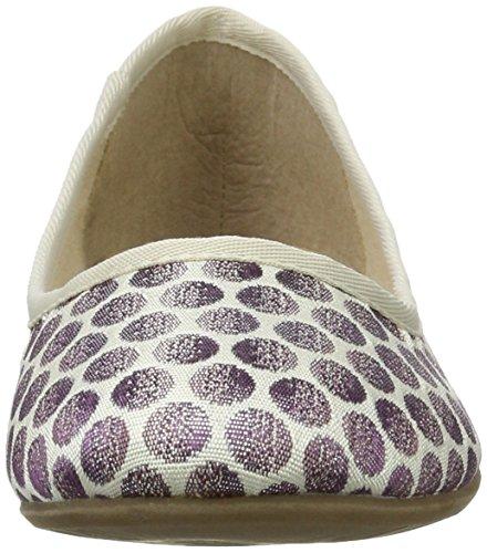 Tamaris Damen 22151 Geschlossene Ballerinas, Violett (Lavender Dots), 38 EU - 4