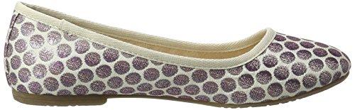 Tamaris Damen 22151 Geschlossene Ballerinas, Violett (Lavender Dots), 38 EU - 6