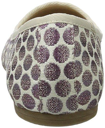 Tamaris Damen 22151 Geschlossene Ballerinas, Violett (Lavender Dots), 38 EU - 7