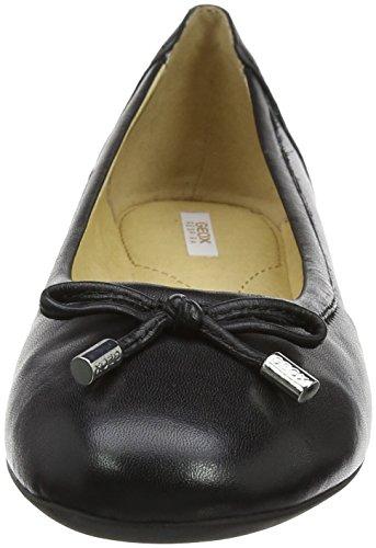 Geox Damen D Lamulay D Geschlossene Ballerinas, Schwarz (Black), 38 EU - 3