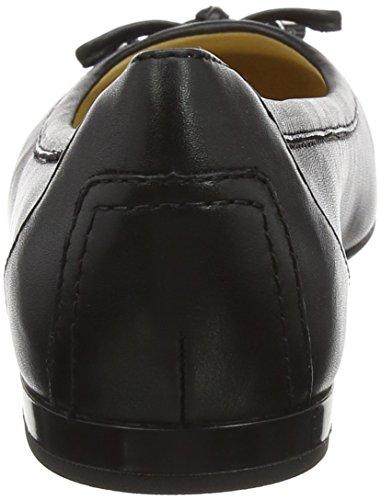 Geox Damen D Lamulay D Geschlossene Ballerinas, Schwarz (Black), 38 EU - 5