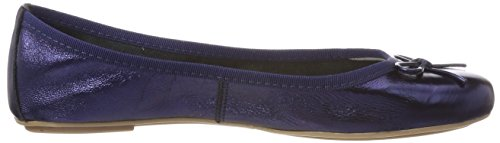 Tamaris Damen 22165 Geschlossene Ballerinas, Blau (Navy Metallic), 41 EU - 6