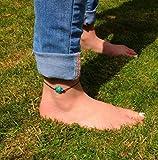 Tier Tuitle Bohemia Kette Fußkette Fußkettchen Barefoot Beach Fußschmuck für Frauen - 2