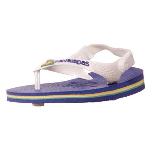 Havaianas Kinder Flip Flops Baby Brasil Logo Grösse 27/28 EU (25/26 Brazilian) Marine Blau Zehentrenner für Kinder - 2