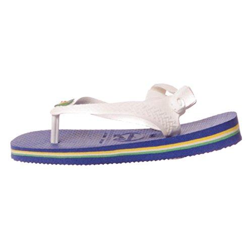 Havaianas Kinder Flip Flops Baby Brasil Logo Grösse 27/28 EU (25/26 Brazilian) Marine Blau Zehentrenner für Kinder - 4