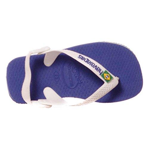 Havaianas Kinder Flip Flops Baby Brasil Logo Grösse 27/28 EU (25/26 Brazilian) Marine Blau Zehentrenner für Kinder - 5
