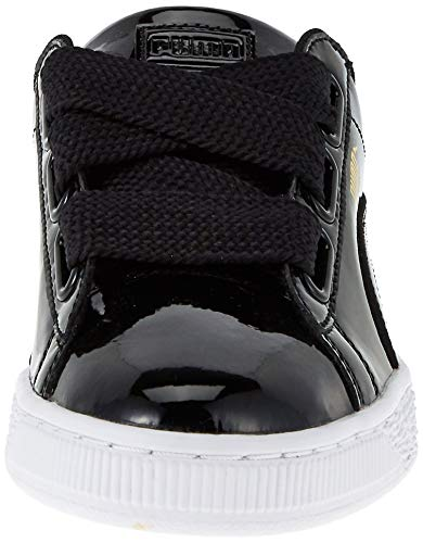 Puma Basket Heart Patent Low-Top Sneaker, Schwarz - 2