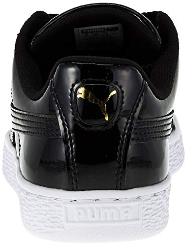 Puma Basket Heart Patent Low-Top Sneaker, Schwarz - 3