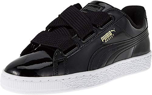 Puma Basket Heart Patent Low-Top Sneaker, Schwarz - 6
