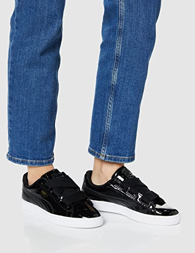 Puma Basket Heart Patent Low-Top Sneaker, Schwarz - 7