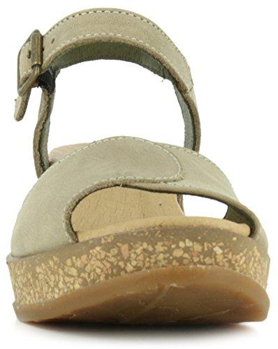 El Naturalista Damen Keilabsatz Sandale, Beige - 3